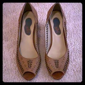 Urban Outfitters Tan Brown Heels